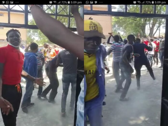 Youths storm UDA offices demanding pay for heckling Raila at Burma market