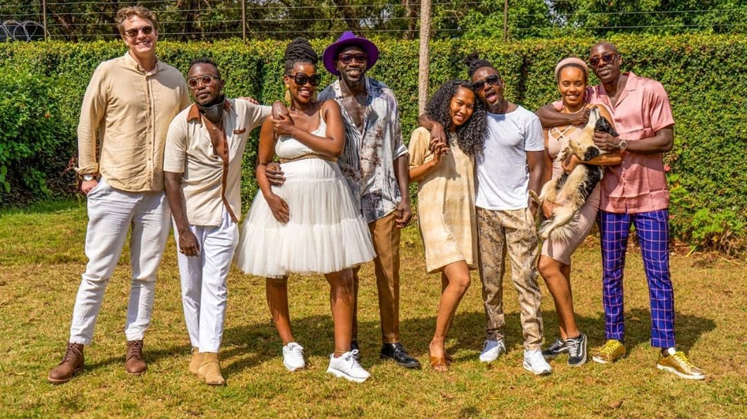 Sauti Sol Family showing off their better halves in a August 2020 photoshoot.