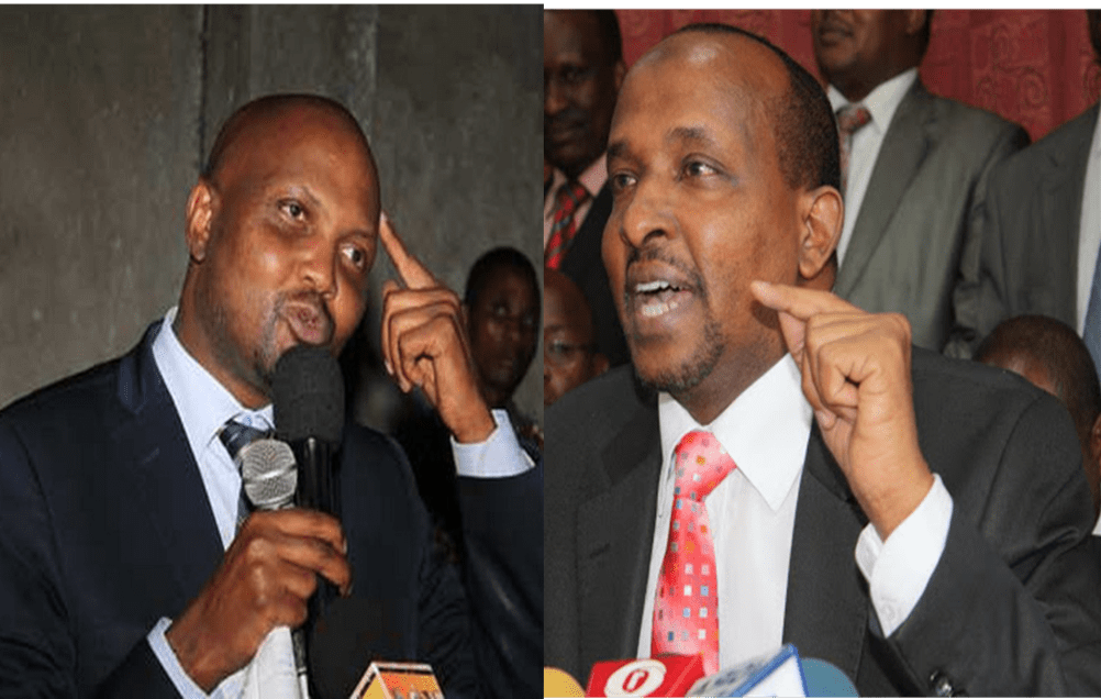 Moses Kuria Violently Goes For Duale's Neck