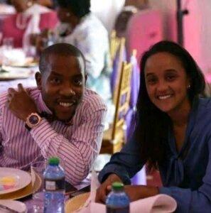Sam Mwai Junior with Ngina Kenyatta