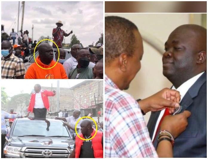 President Uhuru Dispatches His Favorite Bodyguard Bill Arocho To Protect Raila