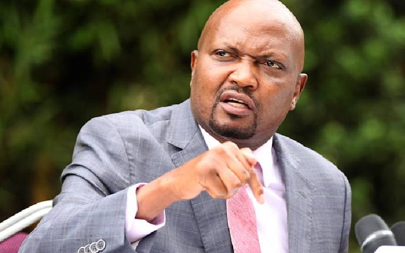 Moses Kuria Criticizes Mps Pushing CS Matiang'is Impeachment, Terms It A Distraction
