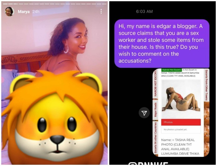 Obare Exposes Singer Marya, Amber Ray And Others Who Work In High-End Brothels As Prostitutes