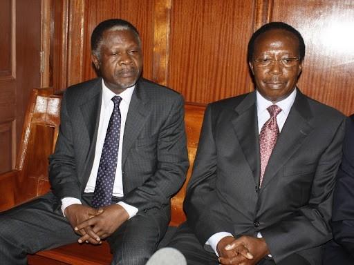 Samuel Gichuru (right) and Chris Okemo